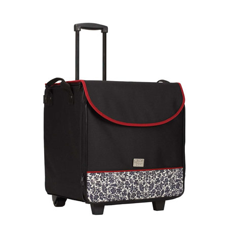 Crop In Style - Red, Black and Cream Collection - XXL Rolling Tote