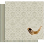 Crafting Jewish Style - Rosh Hashanah Collection - 12 x 12 Double Sided Paper - Shofar, CLEARANCE