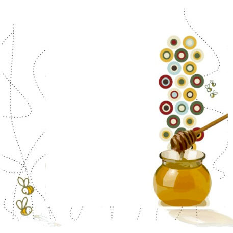 Crafting Jewish Style - Rosh Hashanah Collection - 12 x 12 Double Sided Paper - Honey Bees, CLEARANCE
