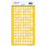 Clever Handmade - Cardstock Stickers - Typewriter - Alphabet - Yellow