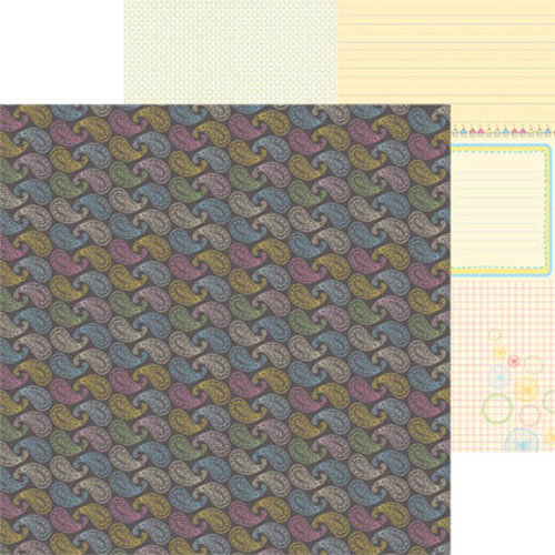 Clever Handmade - Above the Clouds Collection - 12 x 12 Double Sided Paper - Paisley