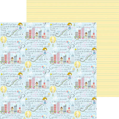 Clever Handmade - Above the Clouds Collection - 12 x 12 Double Sided Paper - Story