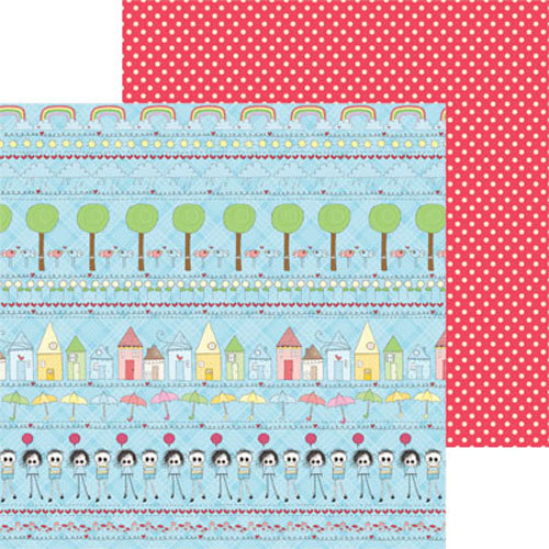 Clever Handmade - In This House Collection - 12 x 12 Double Sided Paper - Rainbow Row