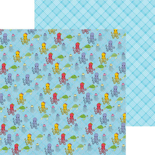 Clever Handmade - Beneath the Sea Collection - 12 x 12 Double Sided Paper - Sea Life