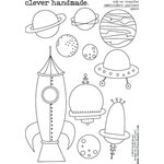Clever Handmade - Embroidery Patterns - Rub Ons - Space