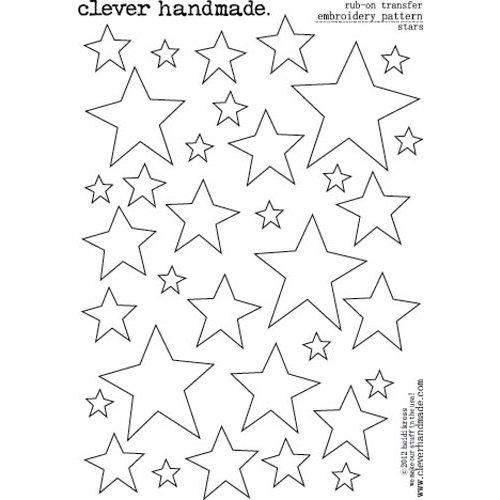 Clever Handmade - Embroidery Patterns - Rub Ons - Stars