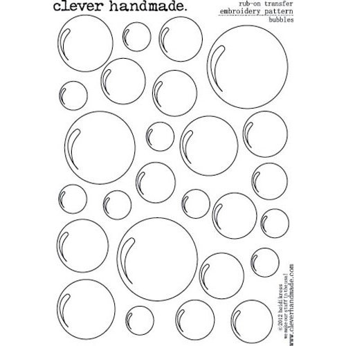 Clever Handmade - Embroidery Patterns - Rub Ons - Bubbles