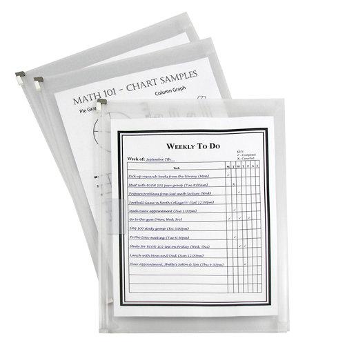 C-Line - Zip 'N Go - Expanding Portfolio - Clear - 3 Pack