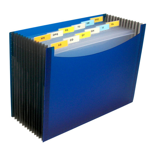 C-Line - Expanding File - 13-Pocket - Blue