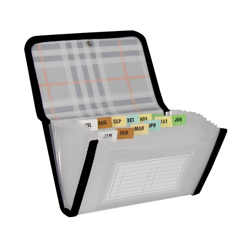 C-Line - Expanding File - 13-Pocket - Coupon Size - Plaid Series