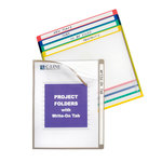 C-Line - Write-on Project Folders - Assorted Colors - 25 Pack