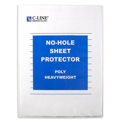 C-Line - 8.5 x 11 - No-Hole Sheet Protector - Clear - 25 Pack