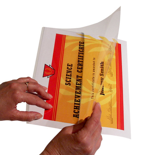 C-Line - Adheer Quick Cover Laminating Pockets - Super Heavyweight Clear - 25 Pack