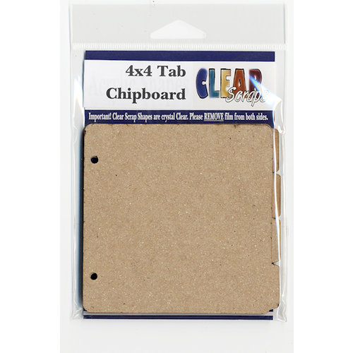 Clear Scraps - Chipboard Album - 4 Pages Tabbed - 4 x 4
