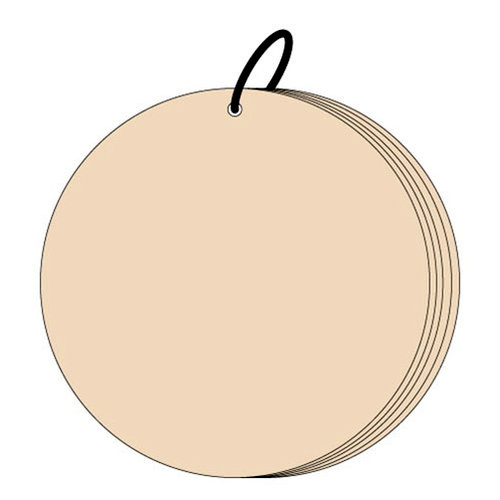 Clear Scraps - Chipboard Album - 7 Inch Circle, CLEARANCE
