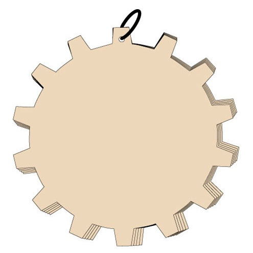Clear Scraps - Chipboard Album - 10 Inch Cog, CLEARANCE