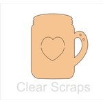 Clear Scraps - Chipboard Album - Mason Jar