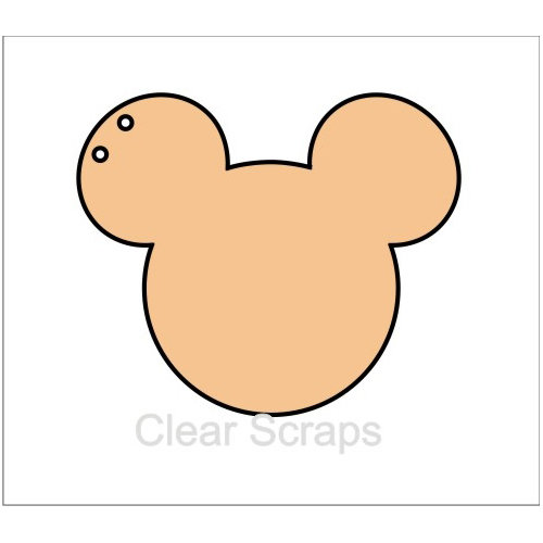 Clear Scraps - Chipboard Album - Mouse Head