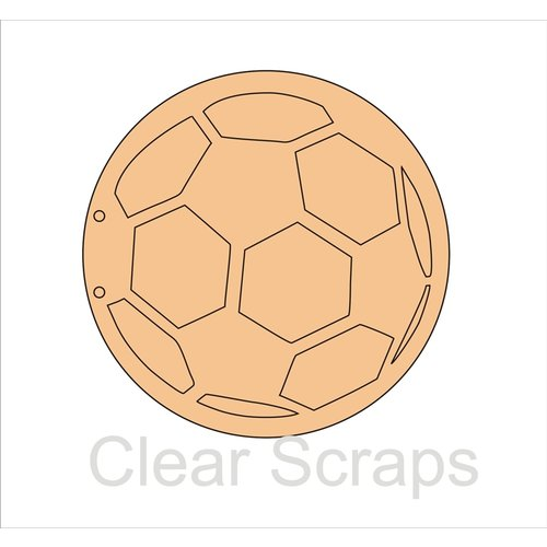 Clear Scraps - Chipboard Album - Soccer