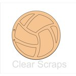 Clear Scraps - Chipboard Album - Volleyball