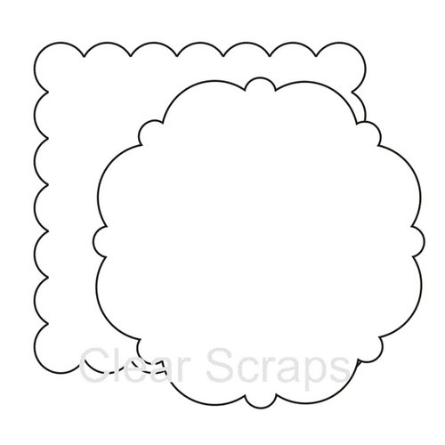 Clear Scraps - Clear Acrylic Shapes - XL Scallops, CLEARANCE