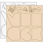 Clear Scraps - Clear-n-Chip Mix Pack - 12 x 12 Acrylic and Chipboard - Abbie's Love, CLEARANCE
