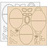 Clear Scraps - Clear-n-Chip Mix Pack - 12 x 12 Acrylic and Chipbaord - Amy's Fashion