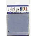 Clear Scraps - Clear Acrylic Album - 4 Pages Tabbed - 4 x 4