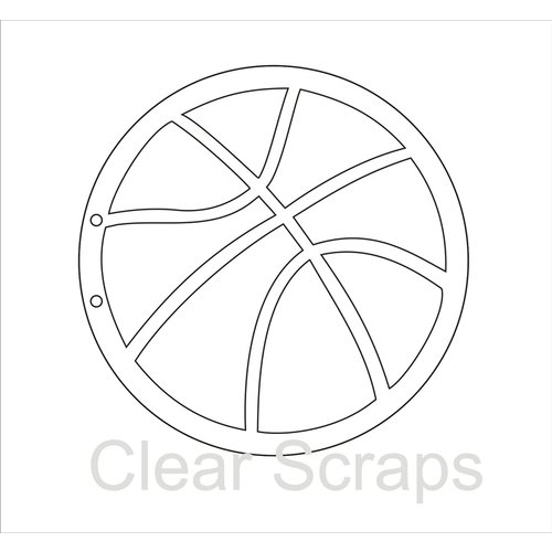 Clear Scraps - Clear Acrylic Album - Basketball