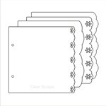 Clear Scraps - Build it Your Way - Clear Acrylic 6.5 x 6.5 Inch Pages - Fancy