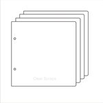Clear Scraps - Build it Your Way - Clear Acrylic 9 x 11 Inch Pages - Regular