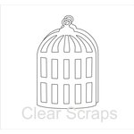 Clear Scraps - Clear Acrylic Album - Bird Cage