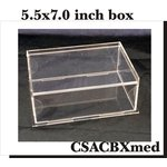 Clear Scraps - DIY Acrylic Box - Keepsake Box - Medium - 5.5 x 7