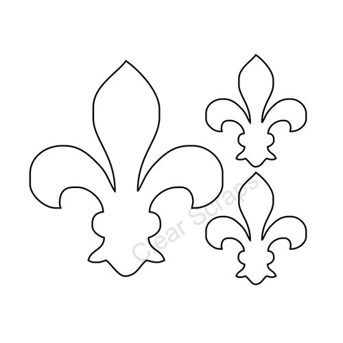 Clear Scraps - Clear Acrylic Shapes - Fleu-d-lis