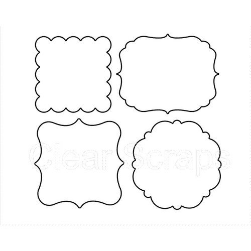 Clear Scraps - Clear Acrylic Shapes - Frames