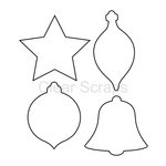 Clear Scraps - Clear Acrylic Shapes - Ornaments