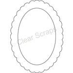 Clear Scraps - Clearly Framed - Oval Center, Scallop Outer - Medium