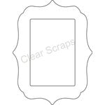 Clear Scraps - Clearly Framed - Rectangle Center, Deco Outer - Medium