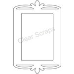 Clear Scraps - Clearly Framed - Rectangle Center, Decorative Outer Top - Medium