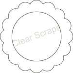 Clear Scraps - Clearly Framed - Circle Center, Scallop Outer - Small