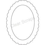 Clear Scraps - Clearly Framed - Oval Center, Scallop Outer - Small