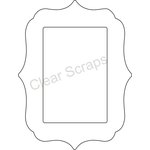 Clear Scraps - Clearly Framed - Rectangle Center, Deco Outer - Small