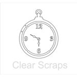 Clear Scraps - Clear Acrylic Album - Pocket Watch