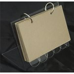 Clear Scraps - 6.25 x 4.25 Acrylic Recipe Stand with 5 Acrylic Tabs and 5 Chipboard Regular Pages