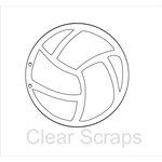 Clear Scraps - Clear Acrylic Album - Volleyball