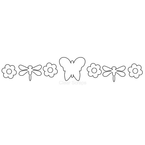Clear Scraps - Clear Acrylic Banner - Butterfly