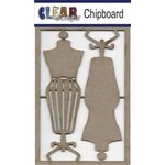 Clear Scraps - Chipboard Embellishments - Dress Forms