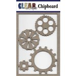 Clear Scraps - Chipboard Embellishments - Cog Gears