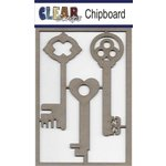 Clear Scraps - Chipboard Embellishments - Keys