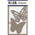 Clear Scraps - Chipboard Embellishments - Monarch Butterflies